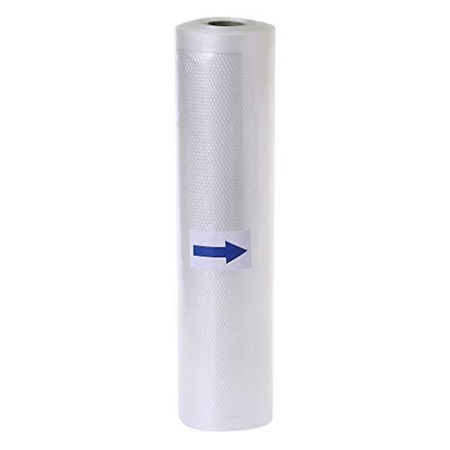 hgfcdd Rollos de bolsas selladoras al vacío para alimentos, 12 cm/15 cm/17 cm/20 cm/25 cm/28 cm (ancho) x 5 m (largo) (15 x 5 m)