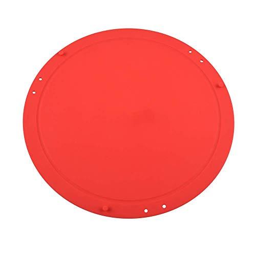 Mcottage Silicona para Picar Tabla de Cortar Redondo Plegable Multifunción Flexible Herramienta para Cocina Hogar - Rojo
