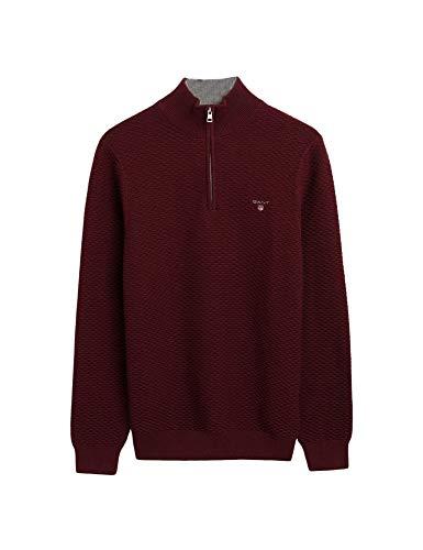 GANT Men's Sweaters Regular Fit Burgundy in Size XXX-Large