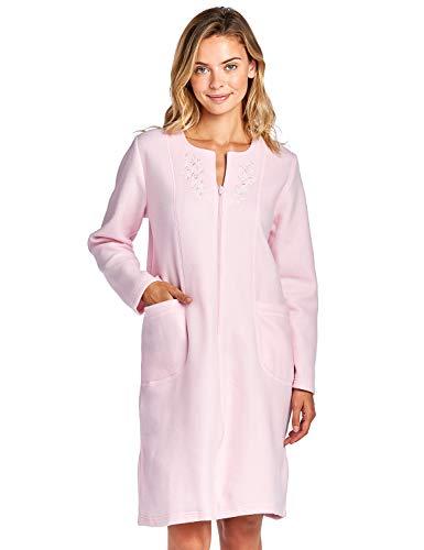 Casual Nights Women's Long Sleeve Zip Up Fleece Robe