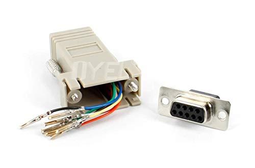 Miwaimao RS232 DB9 Female to RJ45 Female Connector Adapter,RJ45 to DB9 RS232 com LAN TO 232 db9 10PCS/Lot