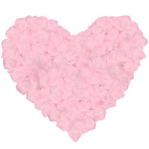 NEO LOONS 1000 Pcs Artificial Silk Rose Petals Decoration Wedding Party Color Light Pink