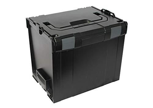 Bosch Sortimo Werkzeugkoffer Systemkoffer L-Boxx 374 / Größe 4 Leer in schwarz, Innovatives Transportsystem, Kompatibel mit allen L-Boxxen