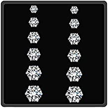 iJewelry hypoallergenic Surgical Stainless Steel Stud Eearrings for Women Girls, 6 Pairs Earring Set with 3-8mm Round Cubic Zirconia and Hypoallergenic Silver Needle