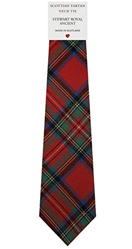 I Luv Ltd Cravate en Laine pour Homme Tissée et Fabriquée en Ecosse à Stewart Royal Ancient Tartan