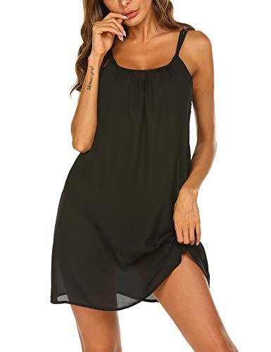 Balancora Bikini Cover voor dames, chiffon, strandjurk, zomerjurk, mouwloos, zomer, blouseboho, loose fit blousejurk