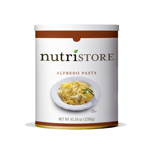 Nutristore Alfredo Pasta #10 Can   Premium Freeze-Dried Variety Meals   Bulk Emergency Food Supply   Breakfast, Lunch, Dinner   MRE   Long Term Survival Storage   25 Year Shelf Life (1 Pack)
