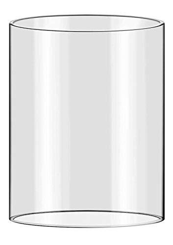Oberstdorfer Glashütte Windlicht Gross Ersatz Zylinder klar Glas mundgeblasen Öffnung unten Oben 10 cm Höhe 30 cm weitere Groessen auf Anfrage