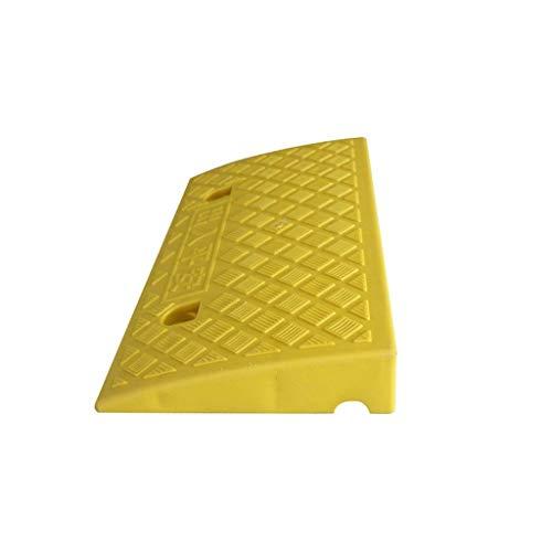 Kleur Portable Slope Pad, Plastic Maximale overspanning afrijkleppen Stap Helling Pad Ziekenhuis rolstoel Dienst Ramps (Color : Yellow, Size : 49 * 26.8 * 6.8CM)
