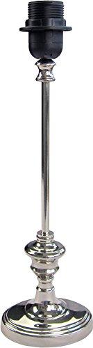 Klassisch, eleganter Lampenfuß *oval* aus Metall, nickel-/chromveredelt, Hochglanz, Höhe 38cm/Energieklasse A++ bisE