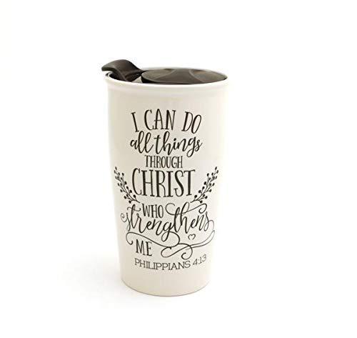 I Can Do All Things Through Christ Travel Mug, Philippians Mug