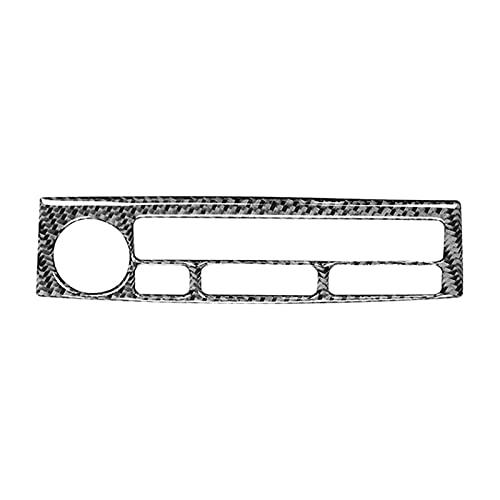 LIFMAGIC 자동차 네비게이션 컨트롤 패널 버튼 커버 트림 탄소 섬유 닛산 350Z2003-2009 액세서리에 적합