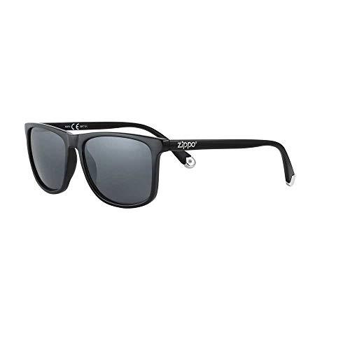 Zippo Sonnenbrille 2020 OB77-01 dunkle Gläser mit schwarzem Rahmen