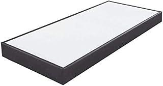 EBAC Literie Sommier tapissier 80x200 SP18 13 Lattes Simili Gris