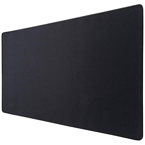 Extended Mouse Pad, Canjoy Gaming Mouse Pad, XXL Large Big Computer Keyboard Mouse Mat Desk Pad with Non-Slip Rubber Base and Stitched Edge for Home Office Gaming Work, 31.5x15.7x0.12inch, Black