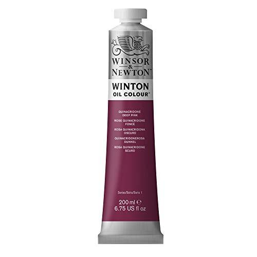 Winsor & Newton 1437250 Winton Oil Color Paint, 200-ml Tube, Quinacridone Deep Pink