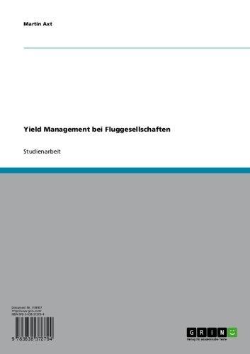 Yield Management bei Fluggesellschaften