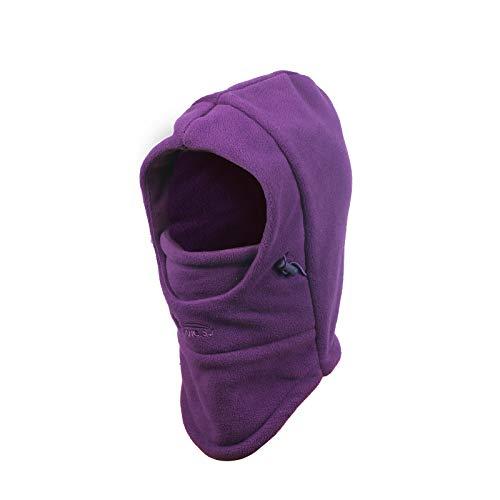 帽子 KAKOO キッズ ネックウォーマー フェイスマスク ウォーマー 子供用 暖かい 冬 防寒 (深紫色)