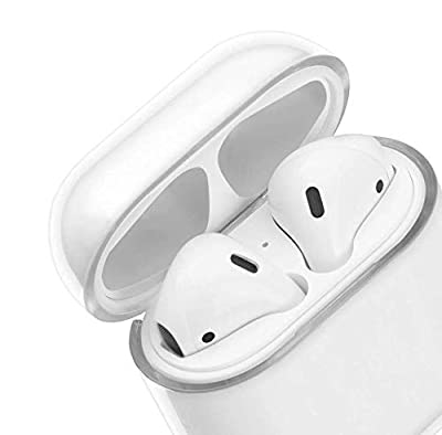 Airpods Case, AirPods Accessories Shockproof Case Cover Portable & Protective Hard Cover Case for Apple Airpods 2 &1 (Front LED Visible) - Transparent (Clear) from Beaute