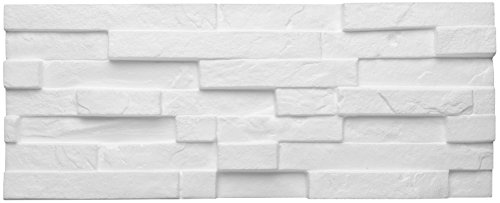 DECOSA Creativstein Sierra (Schichtstein-Optik), weiß, 1 Packstück à 5 Steine 20 x 50 cm (= 0,5 qm)