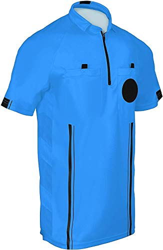 New! 2018 Soccer Referee Jersey (2018 Blue, Adult Medium)