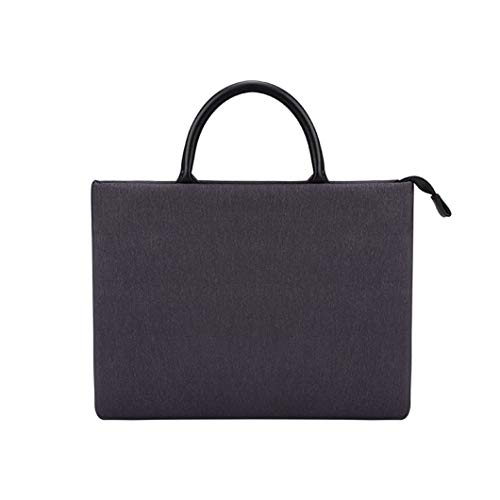 Single Shoulder Messenger Laptop Bag, Suitable for Macbook-ibm-sumsung-hp Computers Etc, Solid Color Doka Nylon Material Breathable Waterproof Bag black-14.1 inch