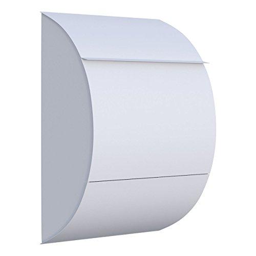 Briefkasten, Design Wandbriefkasten Jumbo Weiß - Bravios