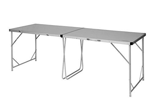 Camping Brunner alu rolltisch Table de camping table Titanium NG 4 122 x 79 cm Marron