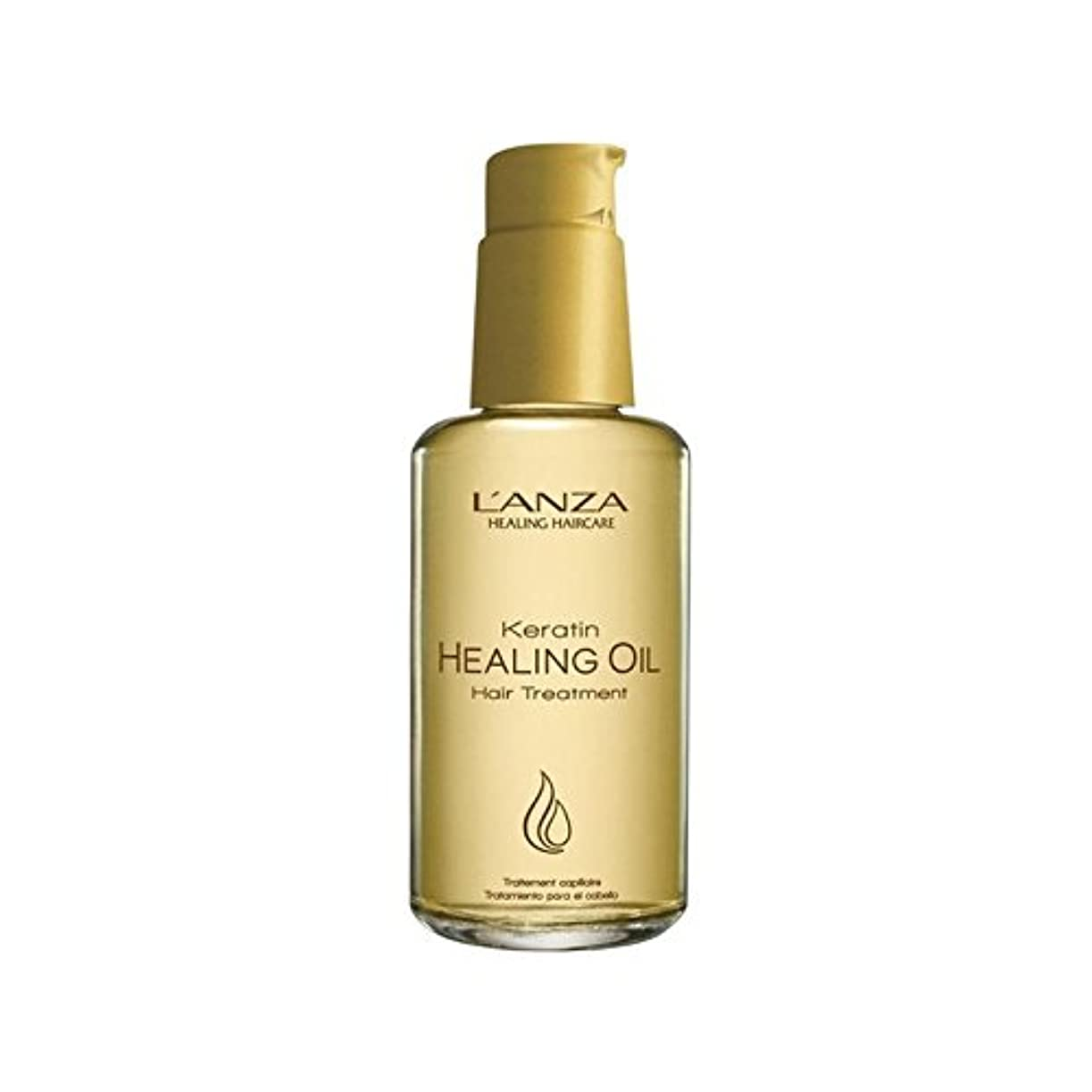 卵妊娠したピッチアンザケラチンオイルヘアトリートメント(100ミリリットル)を癒し x4 - L'Anza Keratin Healing Oil Hair Treatment (100ml) (Pack of 4) [並行輸入品]