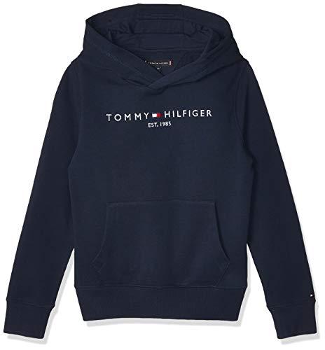 Tommy Hilfiger Jungen Essential Hoodie Kapuzenpullover, Blau (Twilight Navy 654-860 C87), Jahre (Herstellergröße: 14)