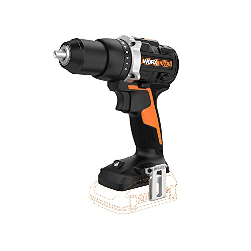 Worx WX102L.9 20V Power Share Cordless Drill/Driver with Brushless Motor, Bare Tool Only