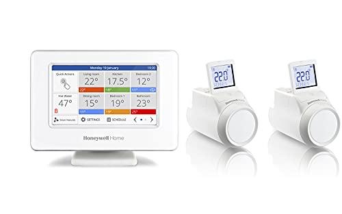 evohome Smarter WiFi-Thermostat THR99C3100 + 2 kabellos kontrollierbare Heizkörperköpfe THR092HRT
