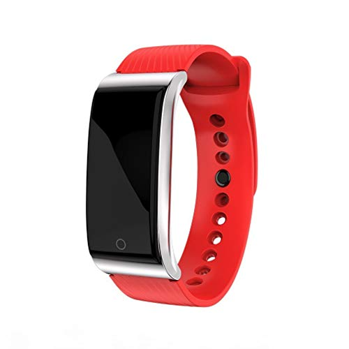 Heren Dames Sport Smart Armband Horloge Bluetooth Klok Hartslag Bloeddruk Zuurstof Slaapmonitor Stappenteller Sport Smartwatch,Red