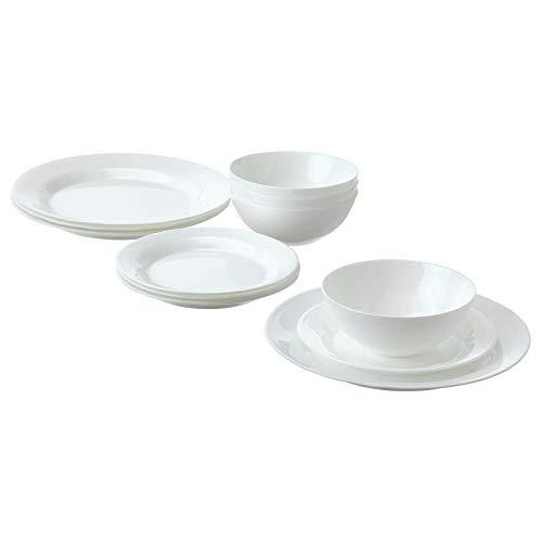 IKEA FAVORISERA - Vajilla de cocina (12 piezas), color blanco