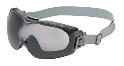"Honeywell S3970DF Uvex by Stealth Over The Glasses Goggles with Navy Wrap-Around Frame, Clear Dura-Streme Anti-Fog Anti-Scratch Lens and Logoed Fabric Headband, 15.34 fl. oz, 1"" x 1"" x 1"""