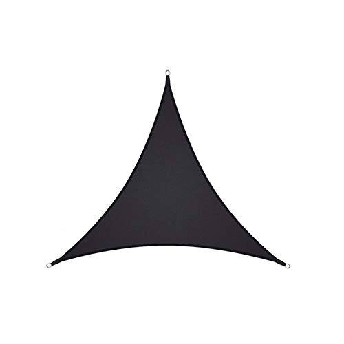 Sun Shade Sail,Waterproof Outdoor Garden Patio Party Sunscreen Awing Triangle Canopy 98% UV Block with Free Rope,Black,2x2x2m