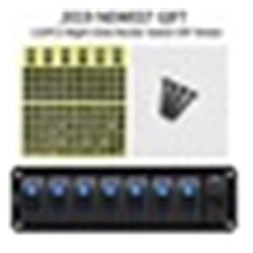 JSJJATQ Interruptores 2/2/3/6/7/8 ON-Off Toggle Switch Panel 2USB 12V-24V Cargador de zócalo LED Voltímetro for automóvil SUV Marine (Color : 7 Gang)