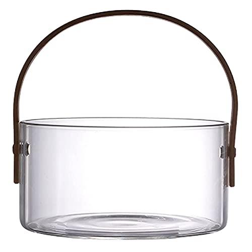 Xkun Cubo de hielo transparente Champagne barril con mango barril de vino