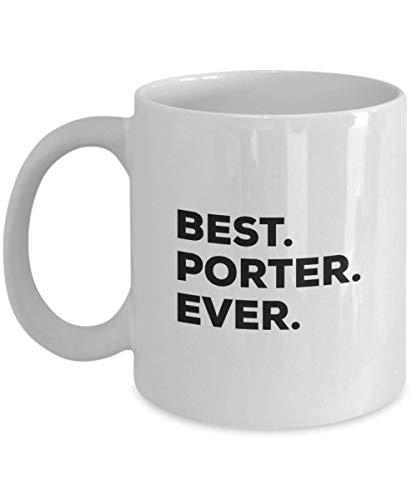 N\A La Mejor Taza de Porter, Divertida Taza de café, Gracias por Las Ideas únicas de Regalos navideños, cumpleaños, Vacaciones