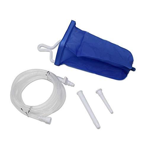 TopQuaFocus Sac de Lavement 2L Réutilisable Bock à Lavement Non-toxique Enema Kit sans Phtalates et BPA pour Nettoyage de Côlon Detox Soulage la Constipation