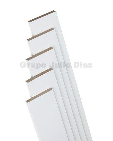 tapeta puerta blanca , moldura para puerta de 7 cm de ancho x 1 cm de grosor x 220 cm de largo , se vende por unidad de tira , añada al carrito tantas tiras como necesite , valido para todo tipo de puertas de paso
