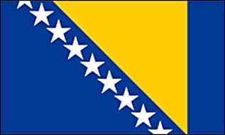 München extérieur-bosnien--herzégovine drapeau 90 x 150 cm