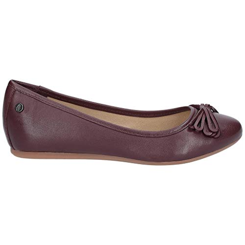 Hush Puppies Damen Heather Masche Leder Ballerinas (42 EU) (Weinrot)