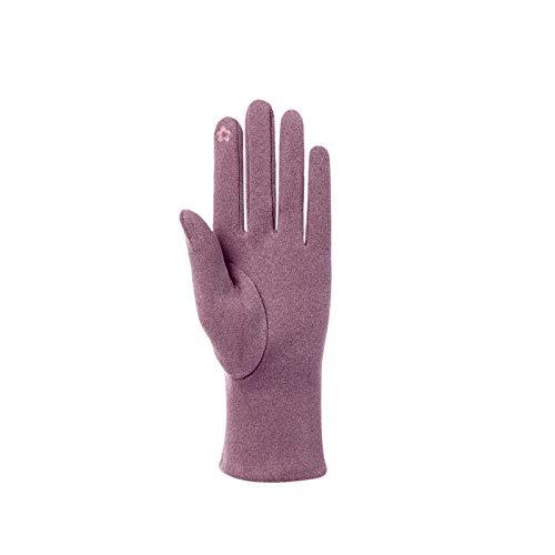 Guantes Moto Invierno Mujer Hombre, Guantes De Esquí Más Cinco Dedos Engrosados de Terciopelo para Mantener El Calor con Bordado De Oso De Invierno