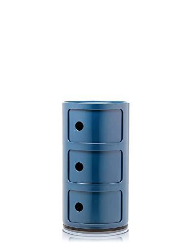 Kartell Componibili,  3 Elements, Blau,  Runde Basis