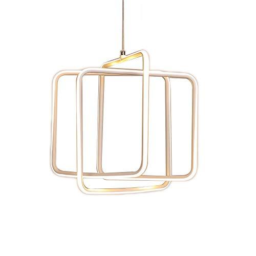 LED suspension Lumière pendante Moderne Créatif Design d'art Lampe suspendue blanc Lustre pour Chambre Îlot de cuisine Salle à manger Bar Loft Réglable en hauteur D45cm, Dimmable avec télécommande