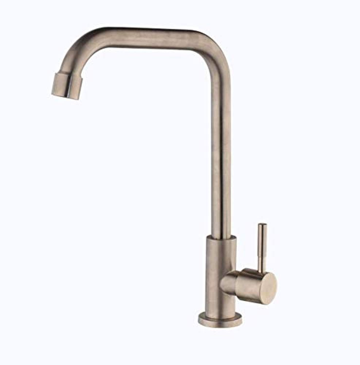 Faucetbathroom Faucet Single Handle Kitchen Sink Basin Faucets Only Cold Water Faucets Basin Sink Tap Water Kitchen Faucets Deck Mounted Tap