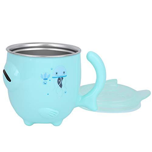Isolier- und Verbrühschutz-Kinder-Isolierbecher für Kinder für Milch, Wasser, Kaffee, heiße Schokolade, Saft und Smoothies(green)