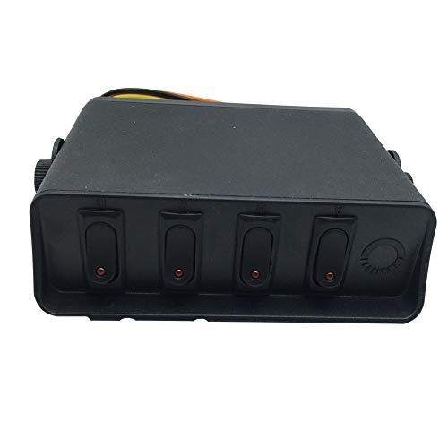 Auto En Boot 4-Digit 3Pin Ronde Schakelpaneel Controle Systeem Met bedrading Combinatie Met Montagebeugel - Zwart