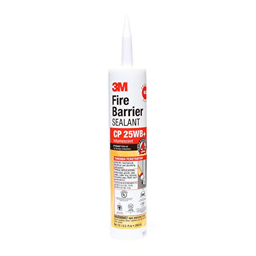 3M Fire Barrier Sealant CP 25WB+ - for Commercial, Industrial and Residential Applications - Cartridge, 10.1 fluid ounces - Red